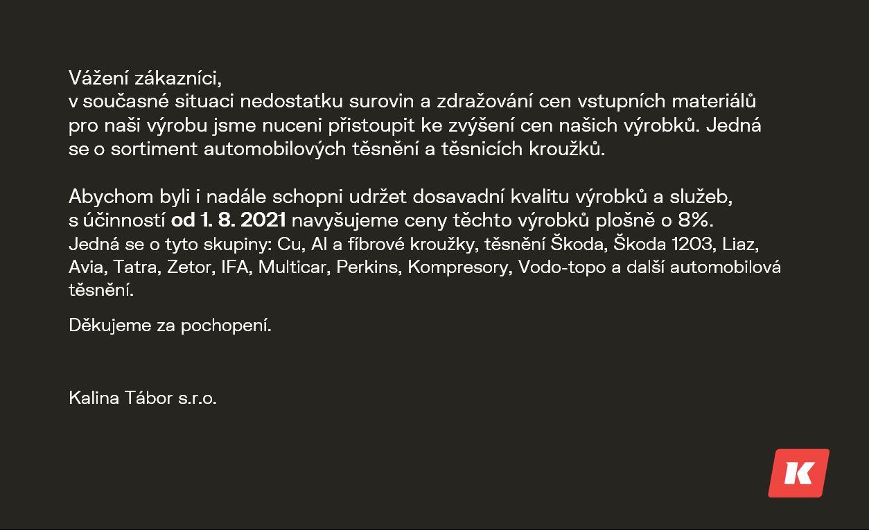 Vyskakovací_okno_oznámení Těsnění Tatra: Těsnění mezikusu čerpadla řízení